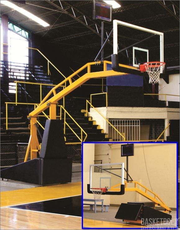 [MS804] 12mm Akrilik Cam Panyalı Ve Esnek Çemberli 325 NBA Model Seyyar Katlanır Ayarlanır Ağırlıklı