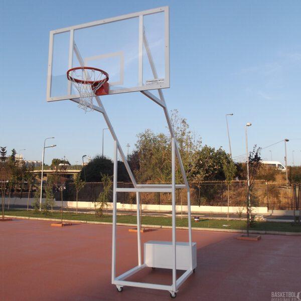 [MS604] Dört Ayaklı Seyyar 12mm Akrilik Cam Panyalı Basketbol Potası