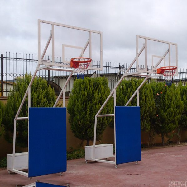 [MS605] Dört Ayaklı Seyyar 15mm Akrilik Cam Panyalı Basketbol Potası