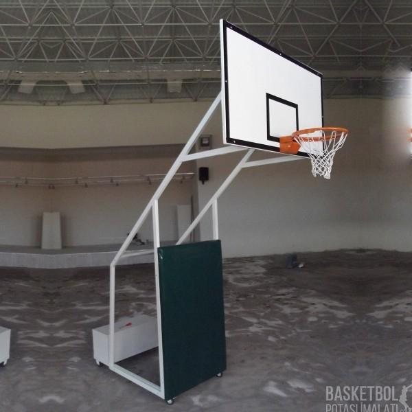 [MS606] Dört Ayaklı Seyyar Koruyucu Döşemeli Fiber Panyalı Basketbol Potası