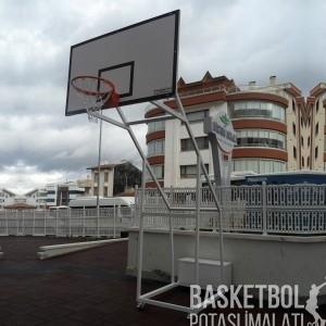 [MS606] Dört Ayaklı Seyyar Fiber Panyalı Basketbol Potası