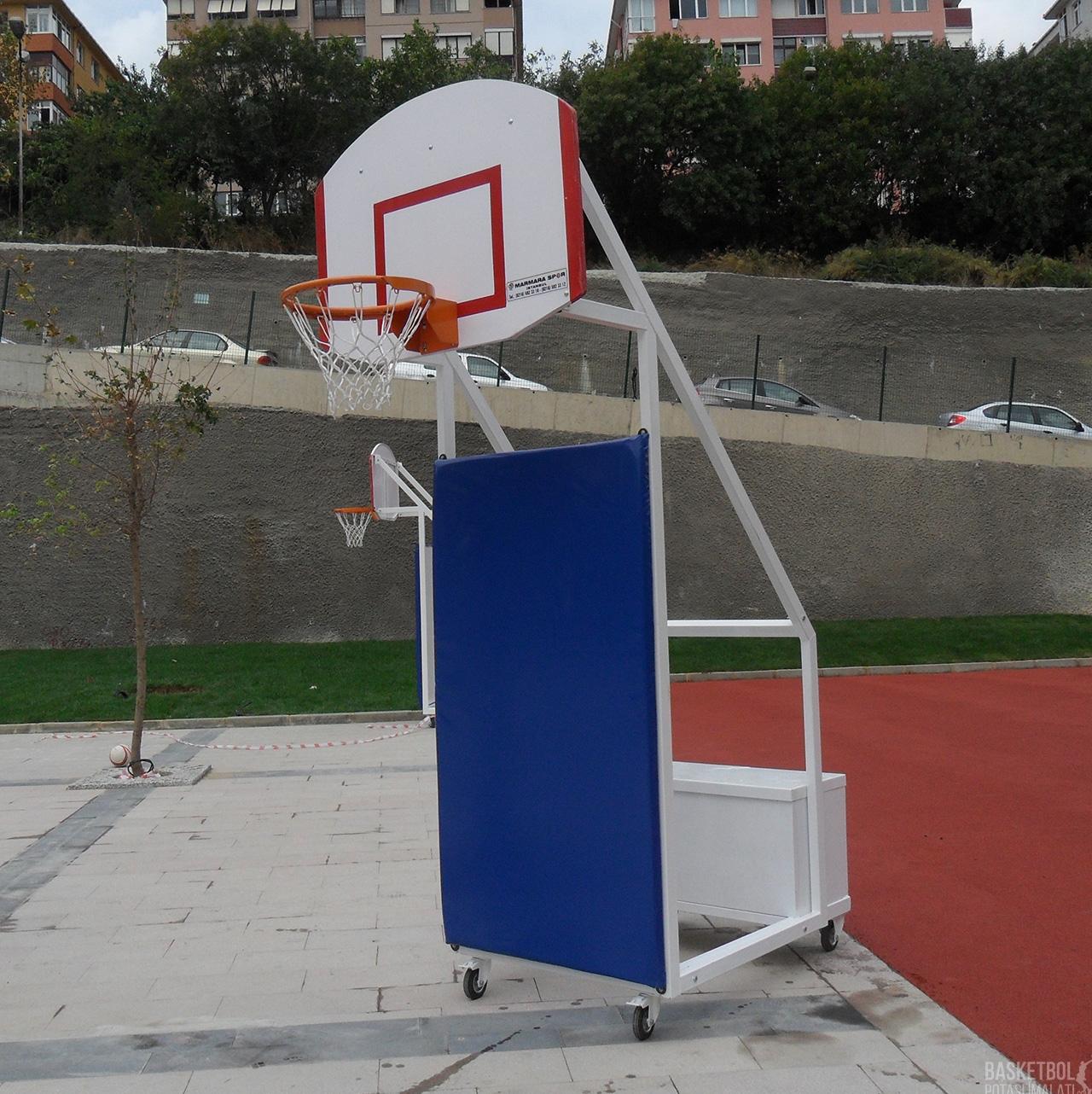 [MS612] Dört Ayaklı Seyyar USA Panyalı Koruyucu Döşemeli Basketbol Potası