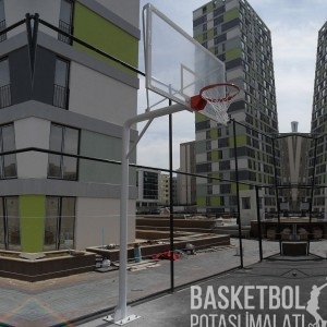 [MS106] 15mm Akrilik Cam Panyalı Basketbol Potası