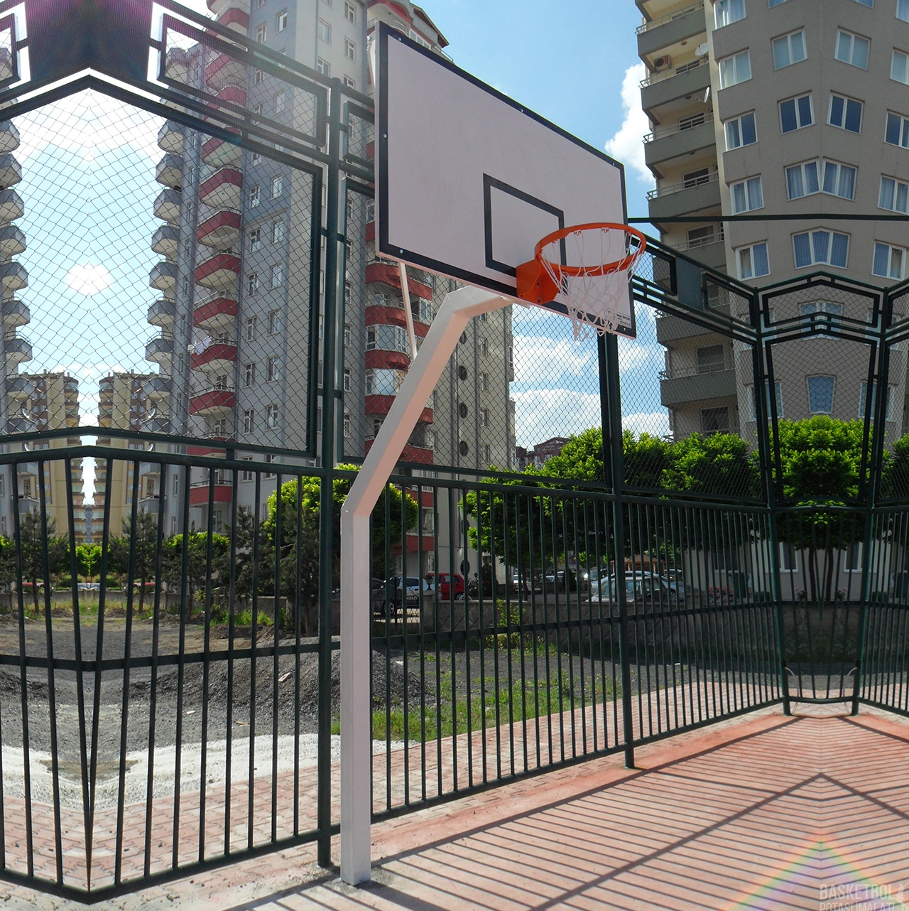 [MS107] Fiber Panyalı Kutu Profilden İmal Basketbol Potası