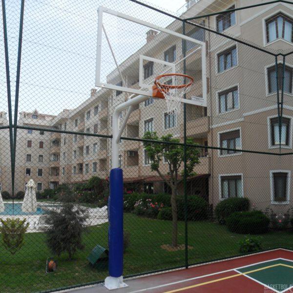[MS110] 12mm Akrilik Cam Panyalı Koruyucu Ön Döşemeli Basketbol Potası